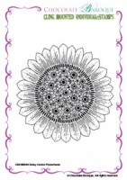 Daisy Centre Flowerhead cling mounted rubber stamp