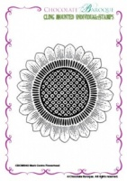 Mesh Centre Flowerhead cling mounted rubber stamp