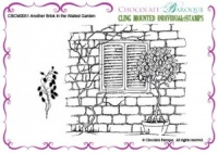 Another Brick in the Walled Garden cling mounted rubber stamp