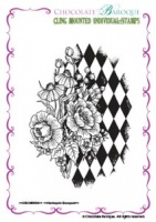 Harlequin Bouquet Individual cling mounted rubber stamp