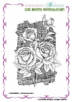 Floribunda Net Individual cling mounted rubber stamp