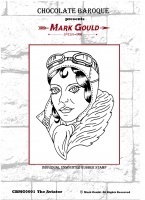 Mark Gould - The Aviator individual unmounted rubber stamp - A6