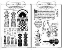 Music Fanfare/The Art of Chess Rubber stamps Multi-buy - A5