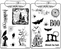 Boo and Halloween Rubber stamps Multi-buy - A6