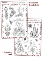Christmas Sparkle Rubber stamps Multi-buy - A5