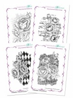Floral Backgrounds Cling Mounted Individual Rubber stamps Multi-buy