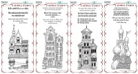 Bookmark Stylised House Collection - 4 BM unmounted rubber stamp sets multi-buy