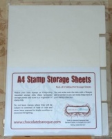 Tabbed Stamp Storage Sheets A4 - Pack of 4