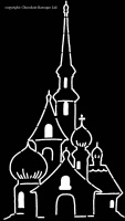 Chocolate Baroque Stencil- Russian Spires