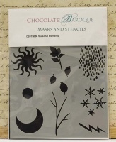 Chocolate Baroque Stencil - Seasonal Elements