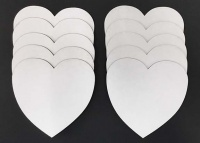 Chocolate Baroque White Board Trading Hearts - Pack of 10