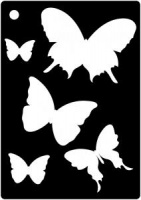 Creative Expressions Mini Stencil - Butterfly Splash