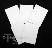 Tando Creative - White Lined Chipboard ATCs - pack of 5