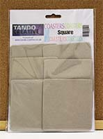 Tando Creative - Chipboard 3.75'' Square Coasters - pack of 6
