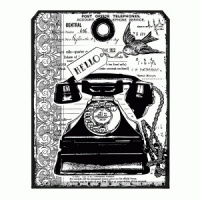 Crafty Individuals - Chunky Vintage Telephone Tag