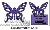 Crealies Duo Butterflies die - 01