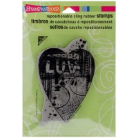 Stampendous Cling Rubber Stamp - Luv Heart