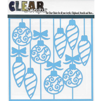 Clear Scraps Stencil 6'' x 6'' -  Swirl Christmas Baubles