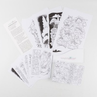Chocolate Baroque Colouring Pages Collection 2 - Limited Edition