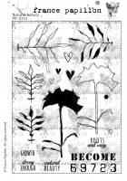 France Papillon - Natural Beauty A5 unmounted rubber stamp set