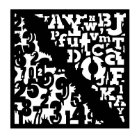 Woodware stencil 6''x6'' - Numbers & Letters