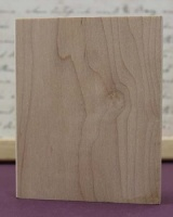 Wood Art Block - 10.0 x 8.0cm Rectangle