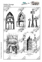 Illusionary Artists - Andy Skinner - Gothic Grunge A5 unmounted rubber stamp set
