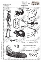 Illusionary Artists - France Papillon - Creeptacular A5 unmounted rubber stamp set