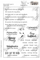 Illusionary Artists - France Papillon - How shall I put it A5 unmounted rubber stamp set