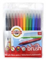 Koh-I-Noor Brush Markers - set of 12