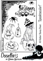 Donna Ratcliff - Spooktacular A5 rubber stamp set