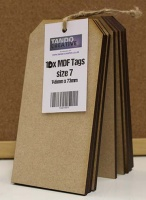 Tando Creative - Set of 10 MDF Tags size 7