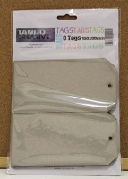 Tando Creative - Set of 8 Greyboard Tags size 8