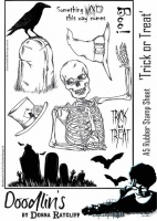 Donna Ratcliff - Trick or Treat A5 rubber stamp set