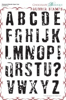 Distressed Alphabet Upper Case Rubber stamp sheet - A4