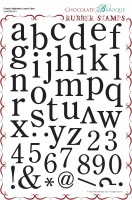 Classic Alphabet Lower Case Rubber stamp sheet - A4