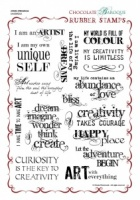 Artistic Affirmations Rubber Stamp Sheet - A4