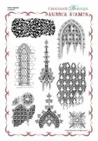 Gothic Fragments Rubber stamp sheet - A4