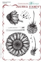 Gerbera and Friends Rubber Stamp sheet - A5