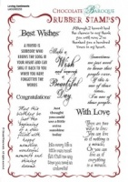 Loving Sentiments Rubber stamp sheet - A5
