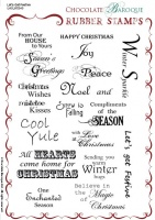 Let's Get Festive Rubber stamp sheet - A5