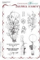 Sweetpeas Blueprint Rubber Stamp sheet - A5