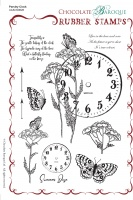 Parsley Clock Rubber Stamp sheet - A5