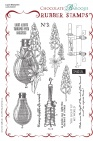 Lupin Blueprint Rubber Stamp sheet - A5