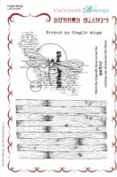 Fragile Wings Rubber Stamp sheet - A5