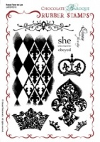 Royal Fleur de Lys Rubber stamp sheet - A5