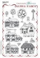 English Cottages Rubber stamp sheet - A5