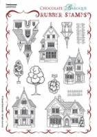 Townhouses Rubber stamp sheet - A5
