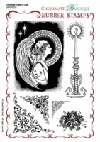 Christmas Angel of Light Rubber stamp sheet - A5