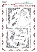 Wedding belle Rubber stamp sheet - A5
